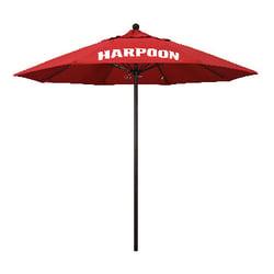 Branded commercial grade market umbrella