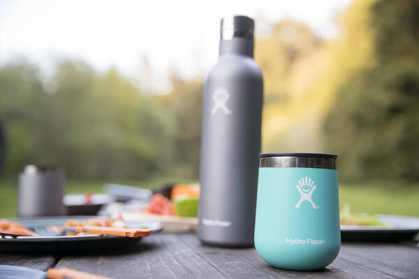 Hydro Flask on table