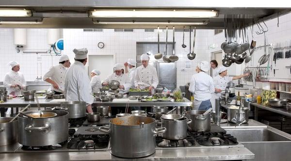Kitchen design chefs in kitchen